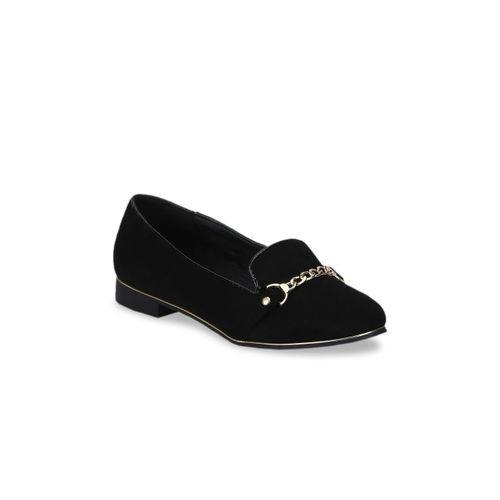 Truffle Collection Women Black Solid Ballerinas