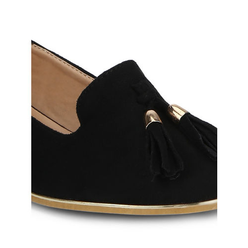 Truffle Collection Women Black Solid Synthetic Ballerinas