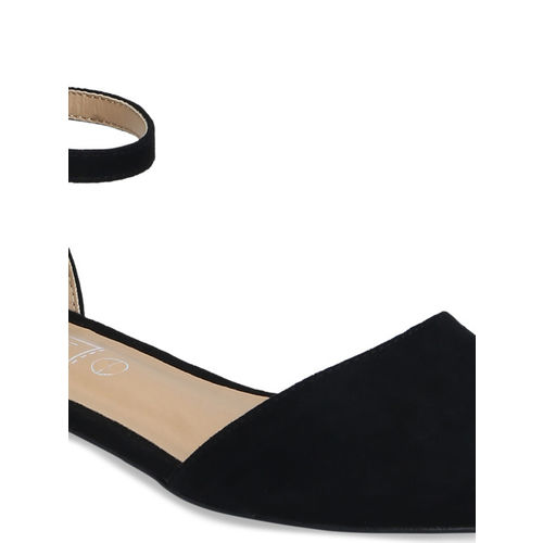 Truffle Collection Women Black Solid Flats