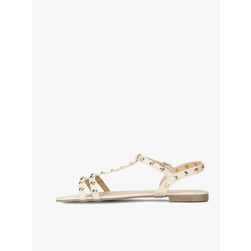 Truffle Collection Beige Slip-On Flats