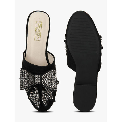 Truffle Collection Black Mules