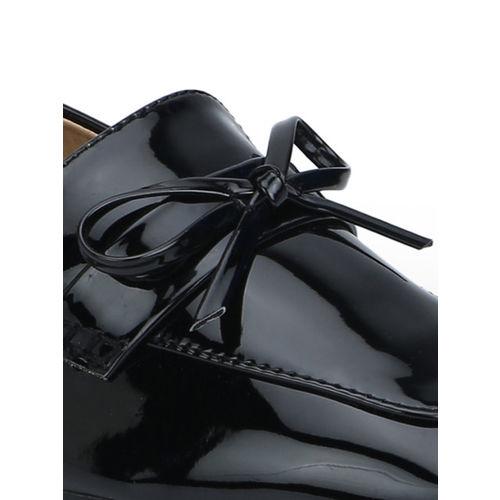 Truffle Collection Women Black Slip-Ons