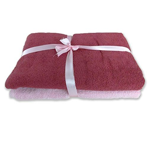 Bombay Dyeing Limited Edition 2 Piece Cotton Bath Towel Set - Garnet and Rose Shadow