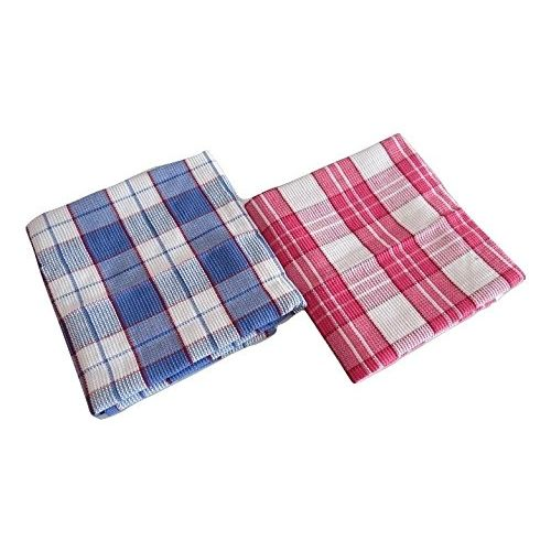 Bombay Dyeing Waffle Cotton Bath Towel(72cm x 144cm), 2 Pieces- Multicolor(Blue/Pink)