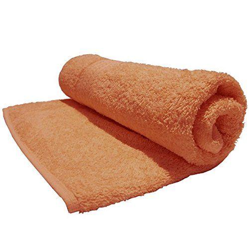 Bombay Dyeing Tulip Plain Dyed Cotton Medium Towel, 450 GSM - Ginger