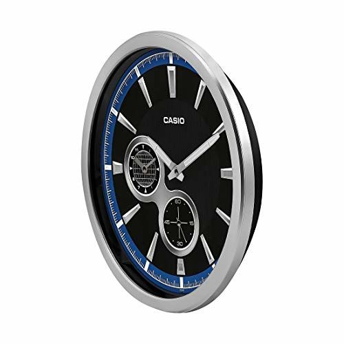Casio Round Resin Wall Clock (35 cm x 35 cm x 5.5 cm, Blue)