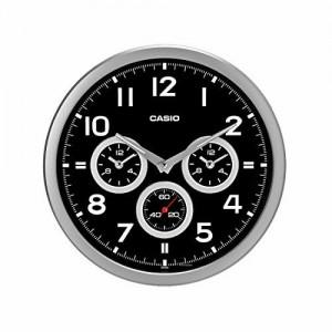 Casio Round Resin Wall Clock (35 cm x 35 cm x 5.5 cm, Black)