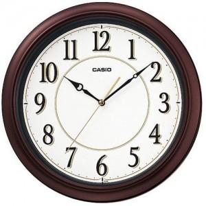 Casio Round Resin Wall Clock (30.8 cm x 30.8 cm, Dark Metallic Brown)
