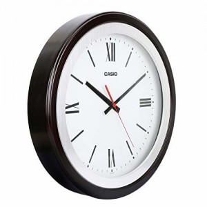 Casio Round Resin Wall Clock (35 cm x 35 cm x 5.4 cm, White)