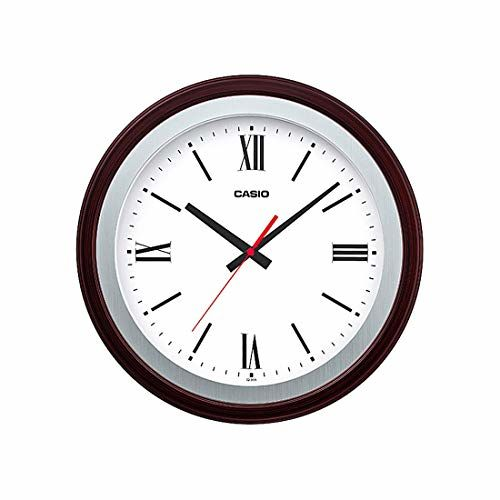 Casio Round Resin Wall Clock (35 cm x 35 cm x 5.4 cm, White)