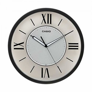 Casio Round Resin Wall Clock (31 cm x 31 cm x 4.3 cm, Grey)