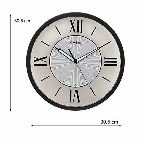 Casio Round Resin Wall Clock (31 cm x 31 cm x 4.3 cm, Grey)