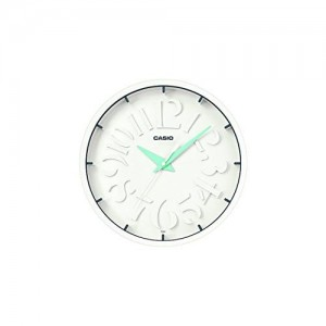 Casio Round Resin Wall Clock (30.5 cm x 30.5 cm, White, IQ-64-2DF)