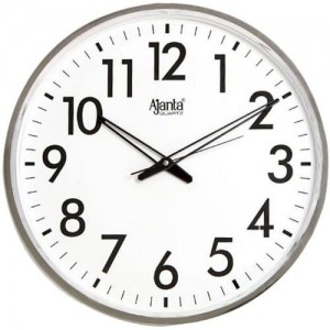 Ajanta Analog 5 cm X 28 cm Wall Clock(White, With Glass)