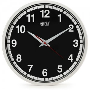 Ajanta Analog 30 cm X 30 cm Wall Clock(Black, With Glass)