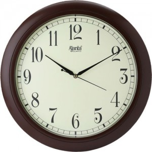 Ajanta Analog 31.3 cm X 31.3 cm Wall Clock(Brown, With Glass)
