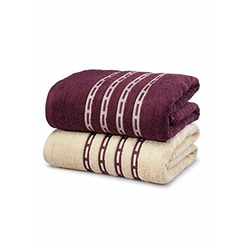 Trident Classic His and Her Solid 2 Piece 500 GSM Cotton Bath Towel Set - First Love