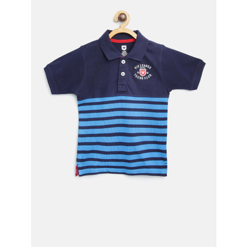 612 League Kids Navy Striped Polo T-Shirt