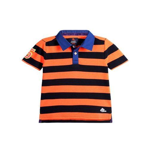9839e6f5 ... Cherry Crumble California Kids Orange & Black Polo T-Shirt ...