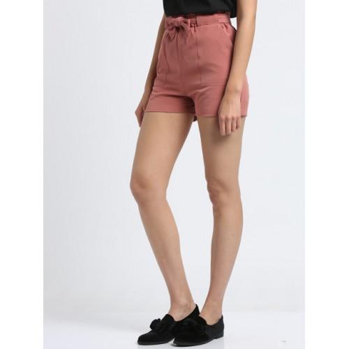 Trend Arrest Pink Solid Regular Fit Regular Shorts