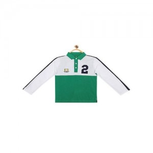 07739014e7 ₹799 Tatacliq. United Colors of Benetton Kids White Applique Polo T-Shirt