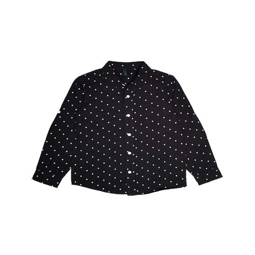 United Colors of Benetton Kids Black Printed Shirt