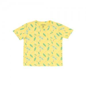 Cherokee Kids Yellow Printed T-Shirt