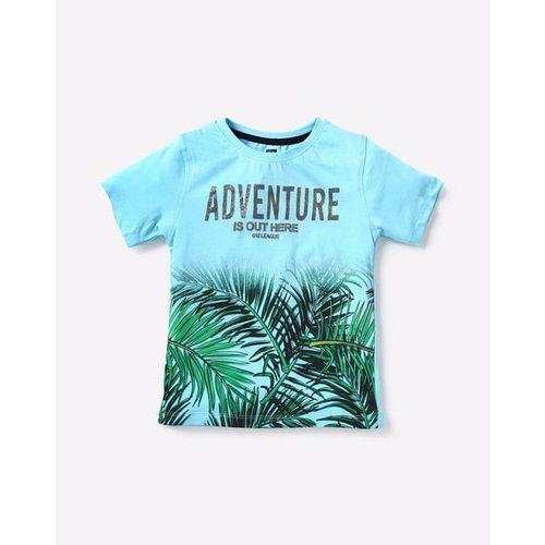 612 League Kids Blue Printed T-Shirt