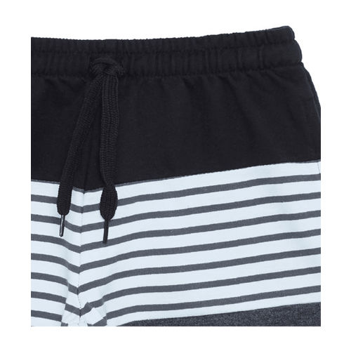 Zudio Kids Black Striped Shorts