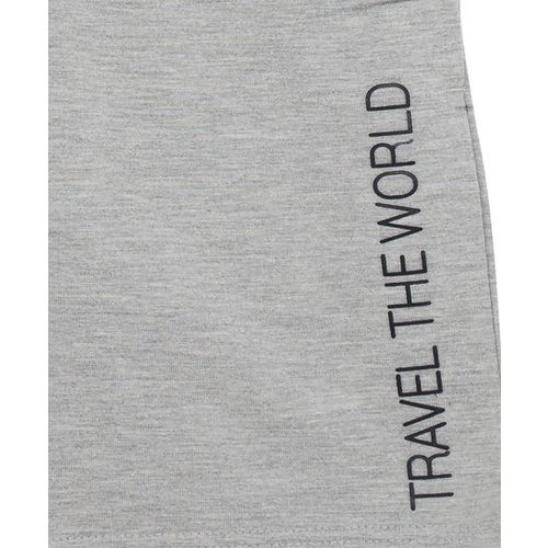Y&F Kids by Westside Grey Text Print Shorts
