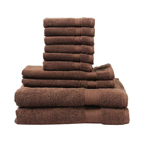 Fresh From Loom Towel for Bath Ring Spun Cotton Towels Set, Super Soft, Plush, Machine Washable and Highly Absorbent Towels, Pack of 10 (2 Bath Towels, 2 Hand