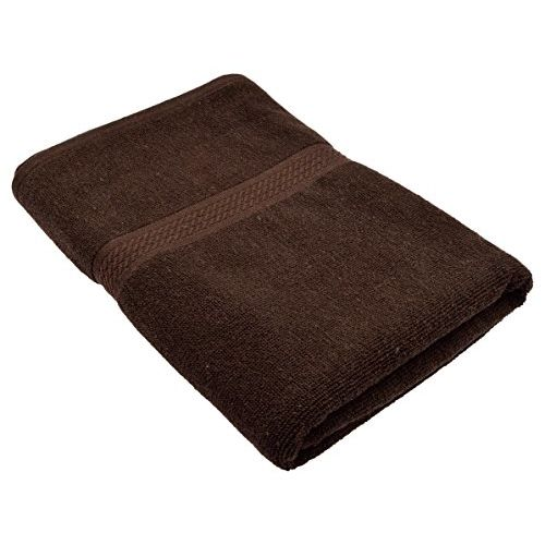 Fresh From Loom Towel for Bath 450 GSM Cotton Fabric (Size -27 x 54 inch) 2pc - Coffee and Sky Blue Color Set