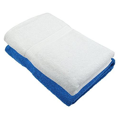 Fresh From Loom Towel for Bath 450 GSM Cotton Fabric (Size -27 x 54 inch) 2pc - Blue and Brown Color Set