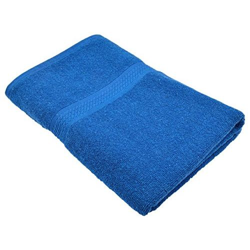 Fresh From Loom Towel for Bath 450 GSM Cotton Fabric (Size -27 x 54 inch) 2pc - Coffee and Blue Color Set