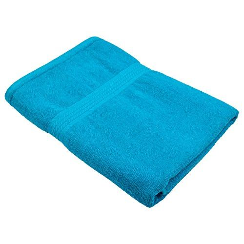 Fresh From Loom Towel for Bath 450 GSM Cotton Fabric (Size -27 x 54 inch) 2pc - Green and Sky Blue Color Set