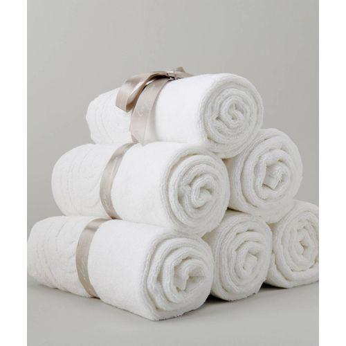 Freshfromloom Cotton 2000 GSM Bath Towel Set(Pack of 6, White)