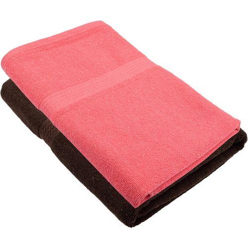 Freshfromloom Cotton 450 GSM Bath Towel(Pack of 2, Multicolor, Pink)