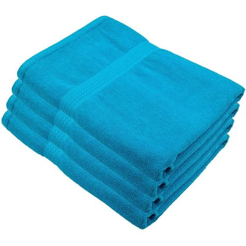Freshfromloom Cotton 500 GSM Bath Towel Set(Pack of 4, Light Blue)