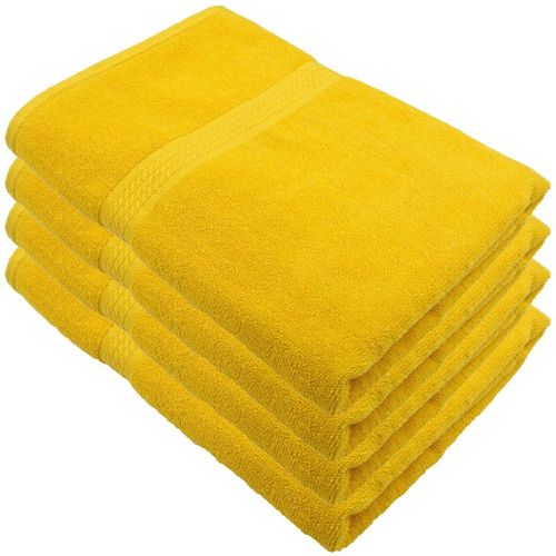 Freshfromloom Cotton 500 GSM Bath Towel Set(Pack of 4, Yellow)