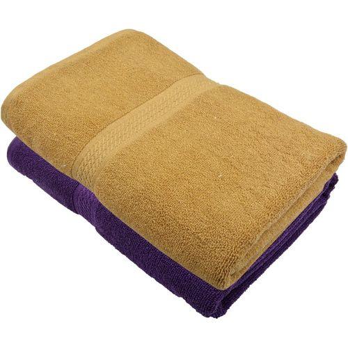 Freshfromloom Cotton 450 GSM Bath Towel(Pack of 2, Purple, Brown)