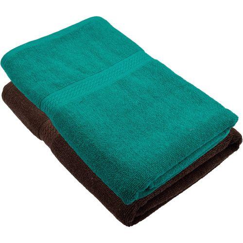 Freshfromloom Cotton 450 GSM Bath Towel(Pack of 2, Multicolor, Green)