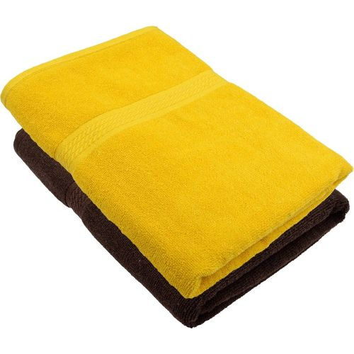 Freshfromloom Cotton 450 GSM Bath Towel(Pack of 2, Multicolor, Yellow)