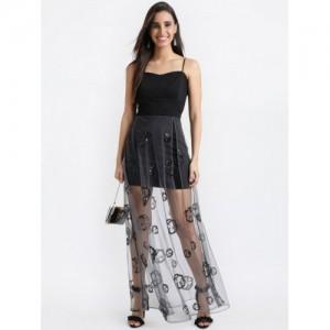 95848cd2e48 Buy Dorothy Perkins Black Lace Hilo Hem Maxi Dress online