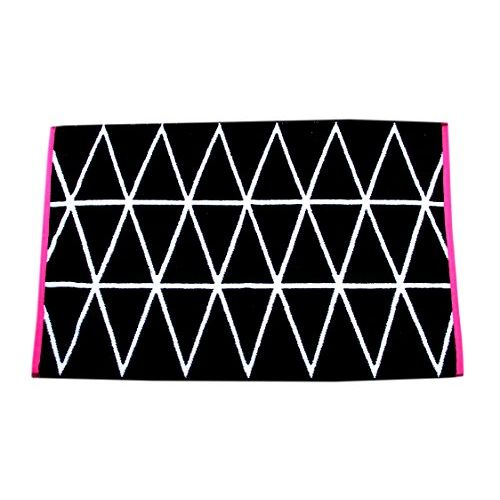 Space Fly Attractive Luxury 2 Hand & Bath Towels, Soft and Cotton (Weight : 330 Grams, Size: 20X31 Inch_Black & White)