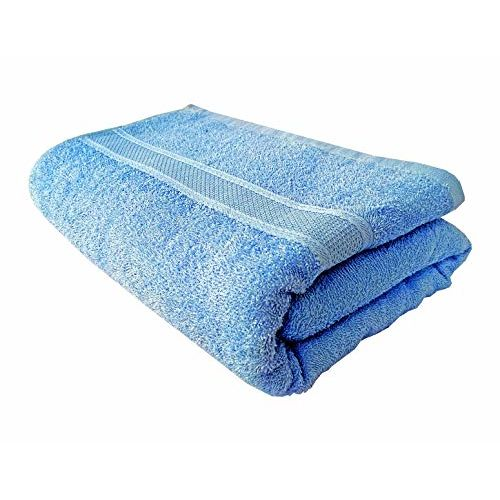 Space Fly 100% Cotton Quick Dry Extra Absorbent Dry Faster & Light Weight Plain 1 Bath Towel (Size : 70X140 cm_Multi Color)