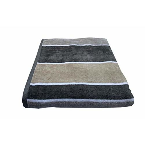 Space Fly Luxury Fine Soft & Cotton Attractive, Striped Pool, Beach Large Size 1 Bath Towels (Size: 32X62 Inch_ Blue)