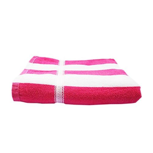 Space Fly Big Size Bath Towels Soft Terry Cotton, Lite Weight Towels, Clean & Dry (28 X 58 Inch_Pink & Blue)