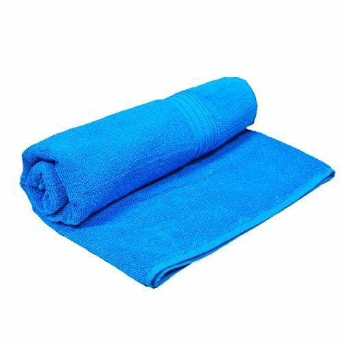 Space Fly Fresh from Loom Plain Cotton Bath Towels Highly Absorbent, Big Size 30X60 inch (450GSM_Multi Color_1 Piece)