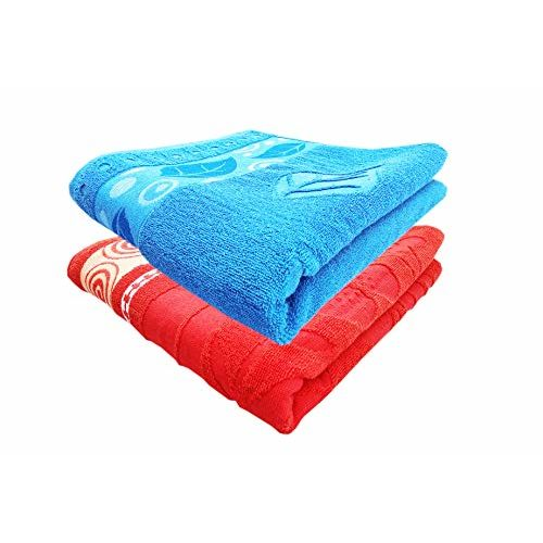 Space Fly Soft & Cotton Big Size 2 Attractive Bath Towels (Size: 29X58 inch_Multi)