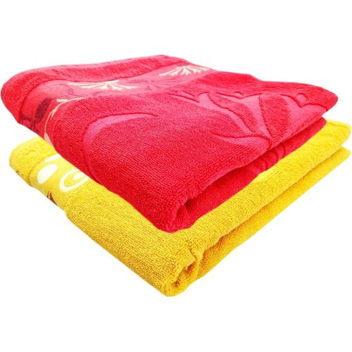 Space Fly Cotton 450 GSM Bath Towel Set(Pack of 2, Multicolor)